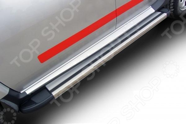 Комплект защиты штатных порогов Arbori Luxe 1800 для Renault Duster, 2010