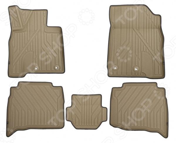 Комплект 3D ковриков в салон автомобиля KVEST Toyota Land Cruiser 200, 2015 комплект ковриков в салон автомобиля novline autofamily toyota land cruiser 200 2012 2015