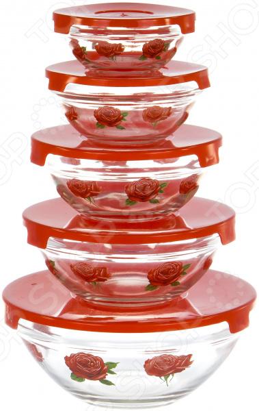 Набор салатников OlAff AX-5SB-R-01 набор салатников olaff с крышками 5 шт ax 5sb r 02
