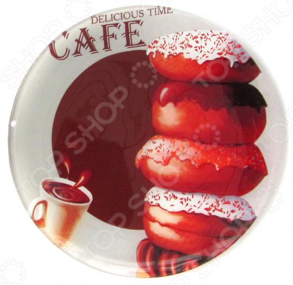 Тарелка Zibo Shelley «Пончики шоколад» тарелка zibo shelley флоксы 25 х 25 см