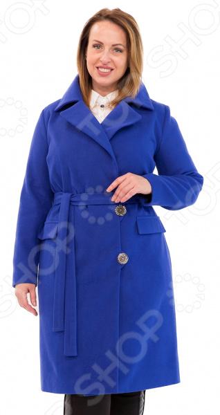 Пальто СВМ-ПРИНТ «Француженка». Цвет: васильковый