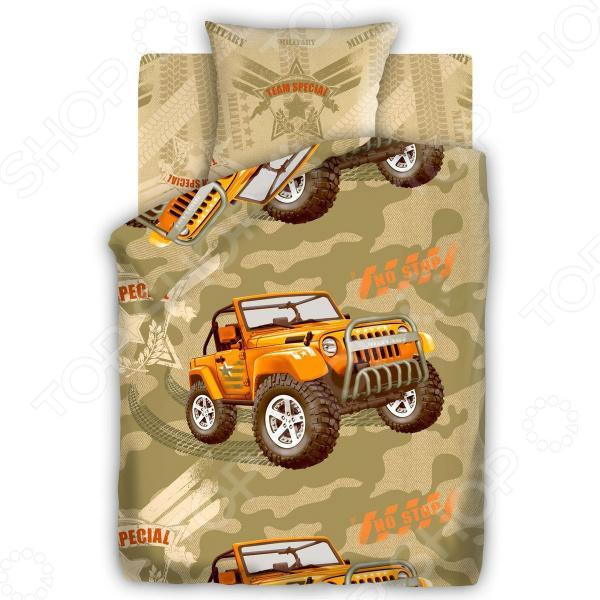 Детский комплект постельного белья 4You «Армейский внедорожник» атаманенко и шпионское ревю