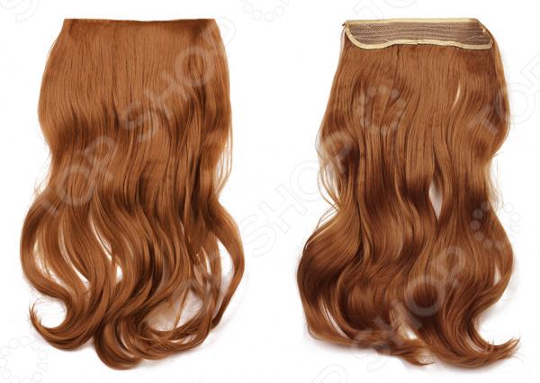 Волосы на силиконовой резинке    /Светло-каштановый