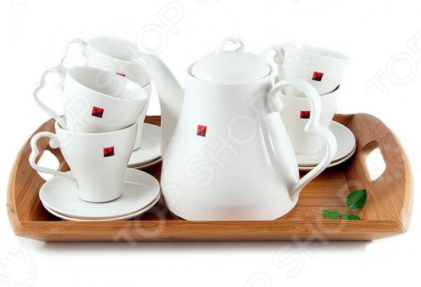 Чайный набор подарочный на бамбуковой подставке 111050