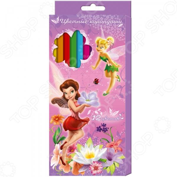 Набор цветных карандашей Disney «Феи»: 12 цветов