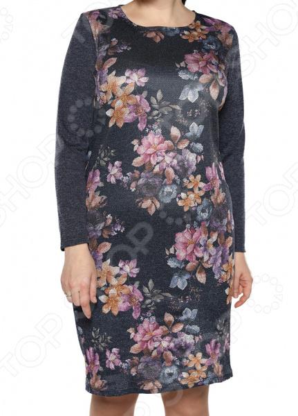 Платье Лауме-Лайн «Бархатный блюз». Цвет: темно-синий