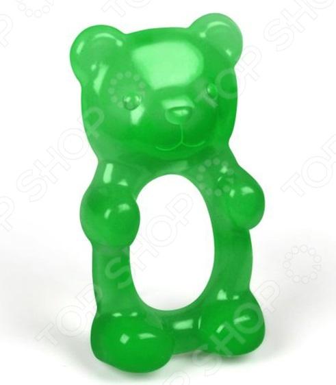 Прорезыватель для зубов Fred Friends Gum Me станет отличным приобретением для вашего крохи и поможет ему справиться с неприятными ощущениями и зудом десен в период прорезывания зубок. Изделие выполнено в виде забавного зеленого медвежонка. Прорезыватель изготовлен из высококачественного силикона, соответствует всем стандартам качества и не содержит в своем составе бисфенол-А и фталаты. Рекомендовано для детей в возрасте от 3-х месяцев.