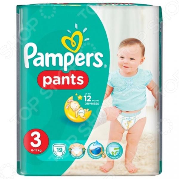 Подгузники-трусики Pampers Pants 6-11 кг, размер 3, 19 шт.