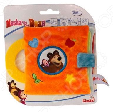 Игрушка развивающая для малыша Simba «Плюшевая книжка. Маша и Медведь» говорящие книжки азбукварик книжка цветик семицветик маша и медведь