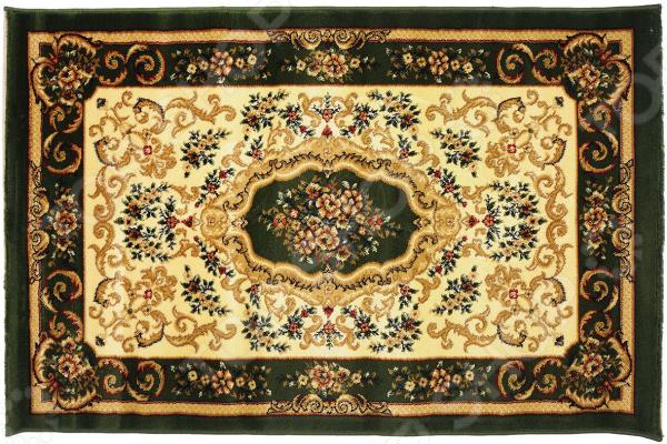 Ковер прямоугольный Kamalak tekstil «Цветочное плетение». Цвет: зеленый - артикул: 1602024