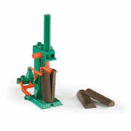 Купить Дополнение к игрушечным машинкам Bruder «Станок для колки бревен»