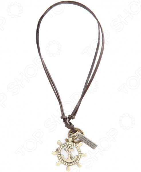 Кулон Mitya Veselkov «Штурвал и крест»