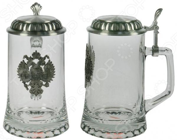 Кружка пивная коллекционная Sks-artina с крышкой «Герб»