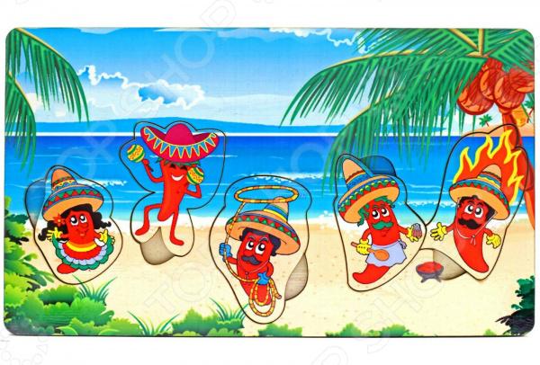 Игра развивающая «Рамка-вкладка: Мексика» игрушка развивающая игрушка рамка вкладка паравозик ig0119
