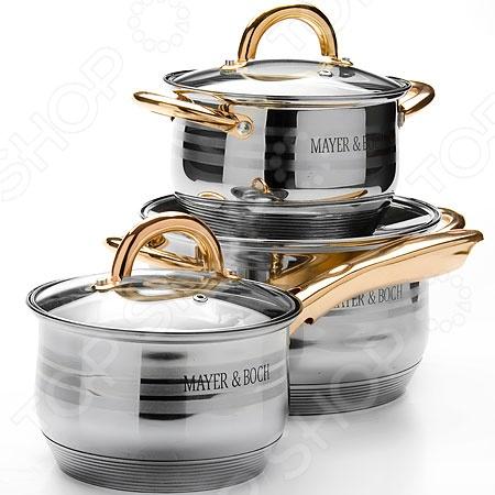 Mayer&Boch MB-25671 Набор посуды для готовки Mayer&Boch «Золотая симфония»