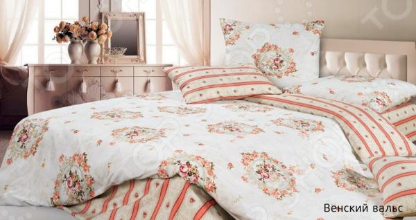 Комплект постельного белья Ecotex «Венский вальс» комплект постельного белья ecotex 2 х сп сатин сюссан кгмсюссан
