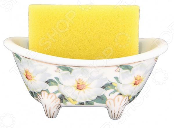 Подставка для губки Elan Gallery «Белый шиповник» лимонницы elan gallery подставка под лимон белый шиповник