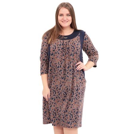 Купить Платье Лауме-Лайн «Счастливый взгляд». Цвет: коричневый