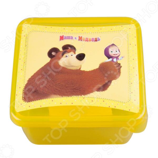 Детская емкость для хранения «Маша и Медведь» 0616008 емкость для хранения маша и медведь mini с крышкой цвет желтый 750 мл