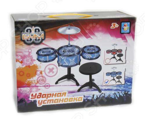 Игрушка музыкальная для ребенка 1 Toy «Музыкальный БУМ. Ударная установка» Игрушка музыкальная для ребенка 1 Toy «Музыкальный БУМ. Ударная установка» /