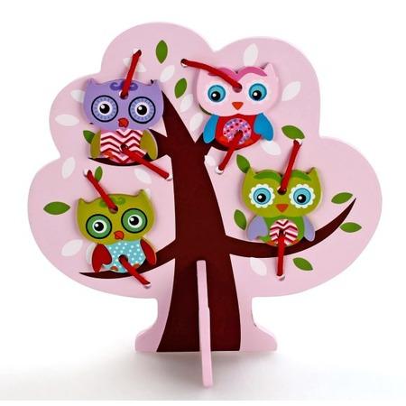 Купить Игра развивающая для малыша Mapacha «Шнуровка. Дерево с совятами»