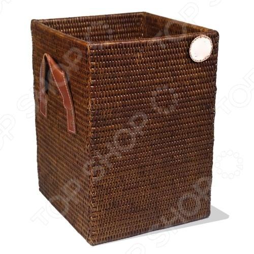 Короб плетеный с кожаными ручками 2К Комфорт Storage Tray