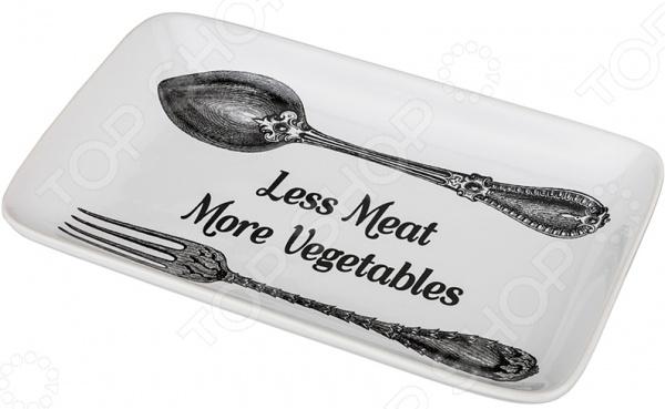 Блюдо Agness «Меньше мяса-больще овощей» 546-057 блюдо agness 546 055