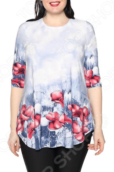 Блуза Max&Style «Элина». Цвет: синий