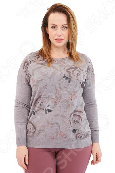 Джемпер Milana Style «Цветы». Цвет: серый