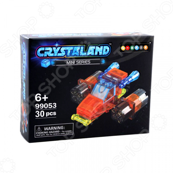 Конструктор для мальчика N-BRIX Crystaland «Шаттл» конструктор crystaland shg006 истребитель 4 в 1 67 дет