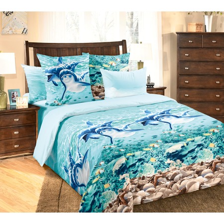 Купить Комплект постельного белья ТексДизайн «Дельфины». 2-спальный
