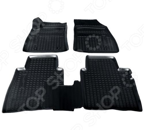 Комплект 3D ковриков в салон автомобиля Novline-Autofamily Nissan Sentra 2014 комплект ковриков в салон автомобиля novline autofamily ford explorer 2011 2014