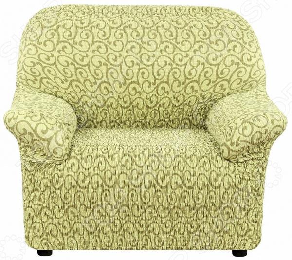 Натяжной чехол на кресло Еврочехол «Тела Безарро»