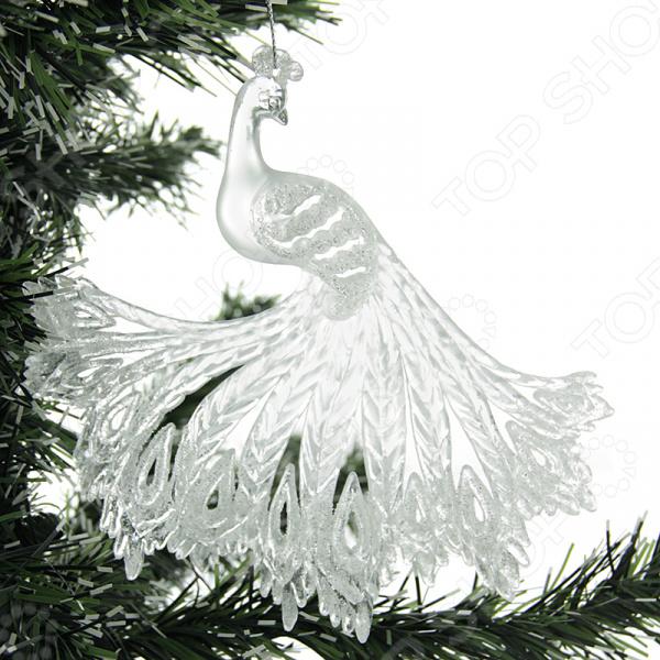 Елочное украшение Crystal Deco «Павлин» 1707596 елочное украшение crystal deco лошадка в ассортименте