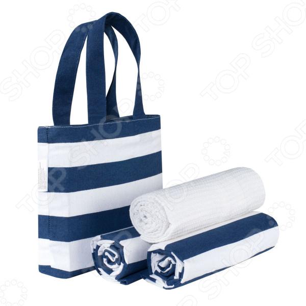 Набор полотенец «Полоска» в сумке. Количество предметов: 3