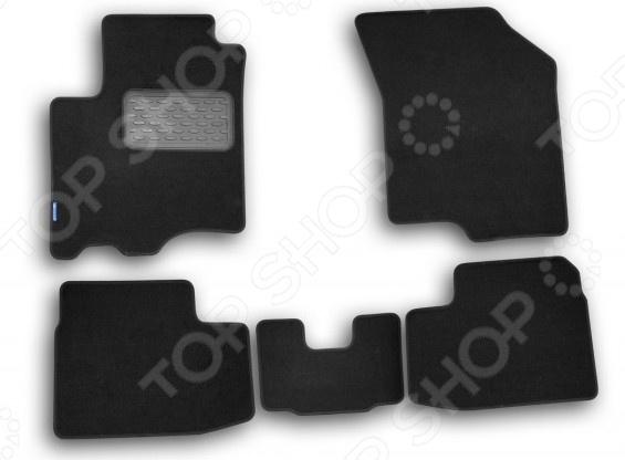 Комплект ковриков в салон автомобиля Novline-Autofamily Suzuki Swift 2005-2011 хэтчбек. Цвет: черный