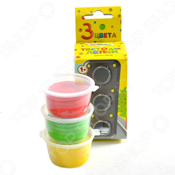 набор для детского творчества тесто для лепки тесто из детства 3цв 135гр т00105 Набор теста для лепки Тесто из Детства т00105