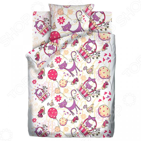 Детский комплект постельного белья Непоседа «Мурка»