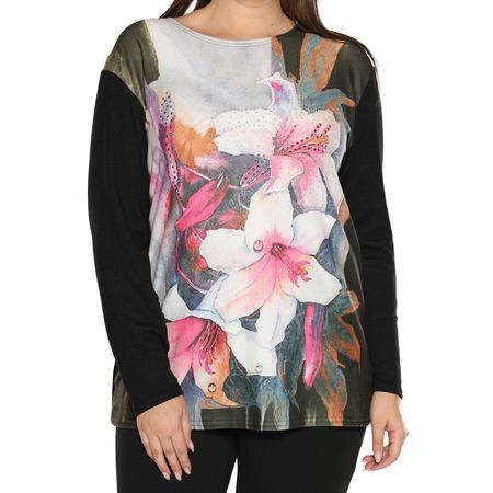 Купить Туника LORICCI «Сверкающая орхидея». Цвет: серый