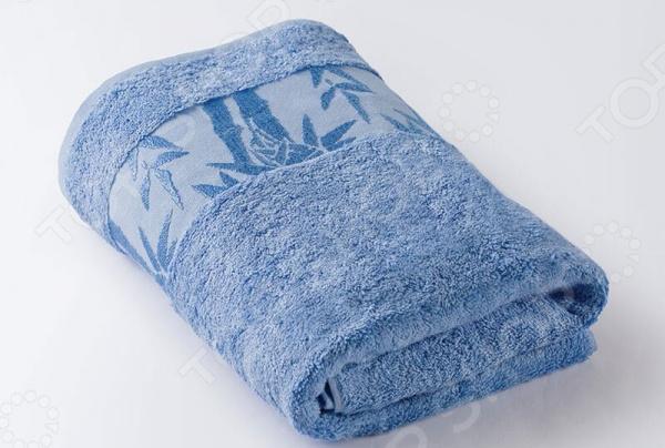 Полотенце махровое Ecotex «Бамбук». Цвет: голубой