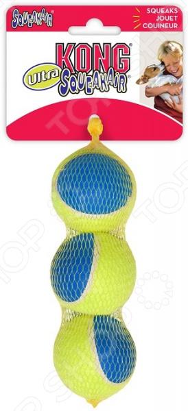 Игрушка для собак Kong Ultra Squeak «Мячик». Количество предметов: 3 AUT2E