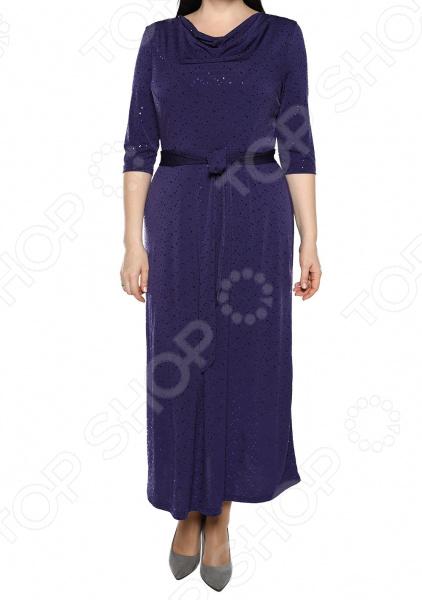Платье VEAS «Искрящийся образ». Цвет: фиолетовый
