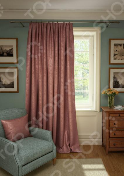 Штора Kauffort Plain Lux. Цвет: брусничный шторы интерьерные kauffort штора provence k на тесьме 136х175