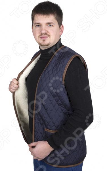 Жилет утепленный WoolHouse «Этно». Цвет: синий жилет утепленный мужской woolhouse матео