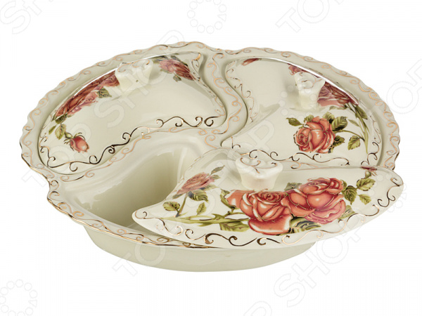 Менажница с крышкой Lefard «Корейская роза» 126-507