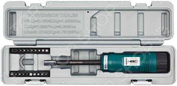 Отвертка динамометрическая с набором бит Kraftool 64030 Отвертка динамометрическая с набором бит Kraftool 64030 /