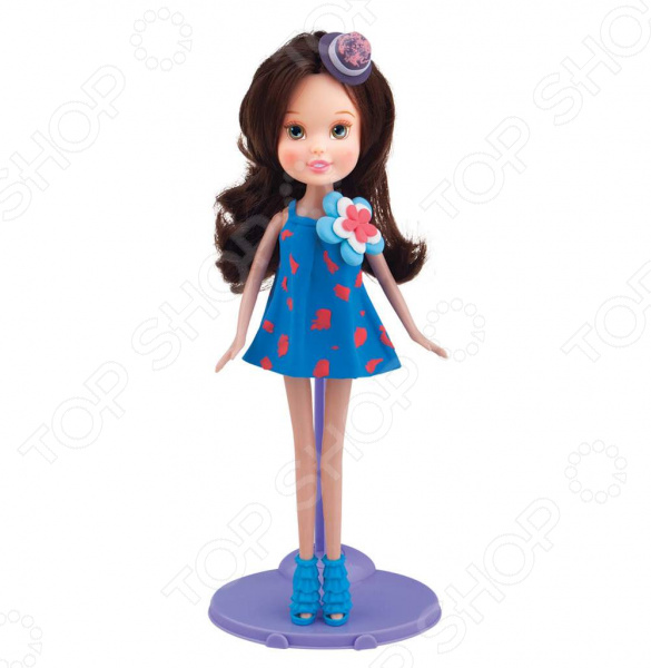 Пластилин с куклой Toy Target «Шатенка в голубом сарафане»
