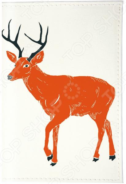 Визитница Mitya Veselkov «Красный олень на белом» обложка для автодокументов кожаная mitya veselkov красный олень на белом