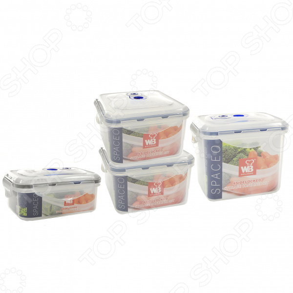 Набор контейнеров для продуктов Wellberg WB-9603 термокружка wellberg wb 9465