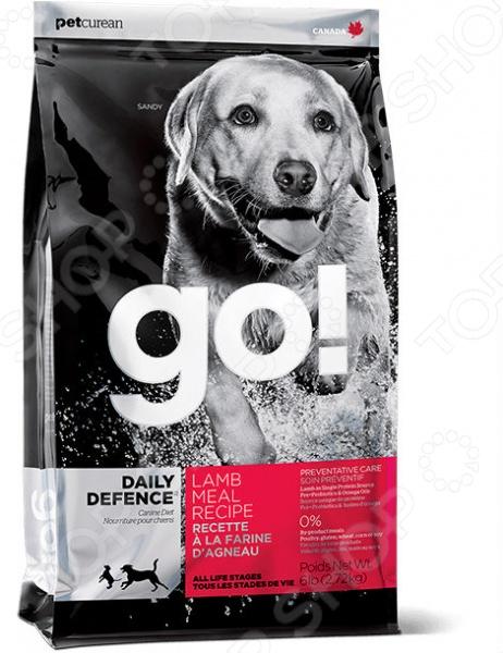 Корм сухой для щенков и собак Go! Daily Defence. Lamb Meal Recipe